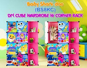 Baby Shark Doo PINK 8C DIY WARDROBE w CORNER RACK (BS8KC)