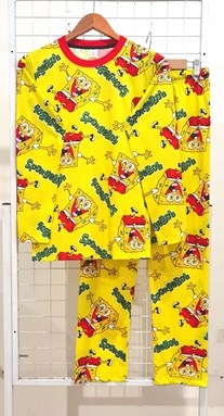 SIZE 2XL DEWASA Pyjamas JOYOUS SPONGEBOB YELLOW (HELAL)