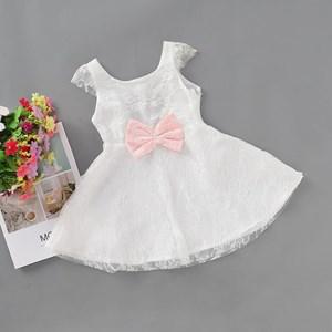 Sweet Lace Design Bow Princess Dress
