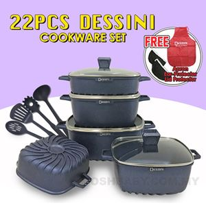 22PCS DESSINI COOKWARE