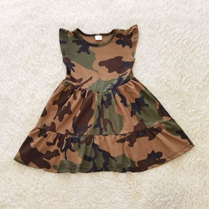 Princess Dress V2 : Green Camouflage abstract size 4-6