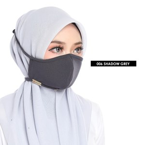 FACEMASK 2PLY -  SHADOW GREY 006
