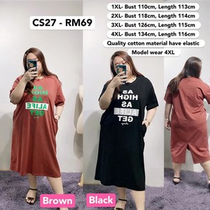 CS27 Ready Stock *Bust 43 to 53 inch/ 110-134cm