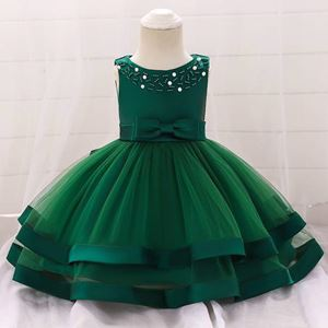 BABY GOWN EMERALD GREEN