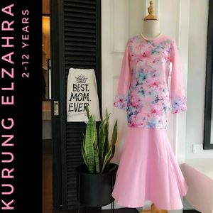 ELZAHRA MODERN KURUNG FOR KIDS (PINK)