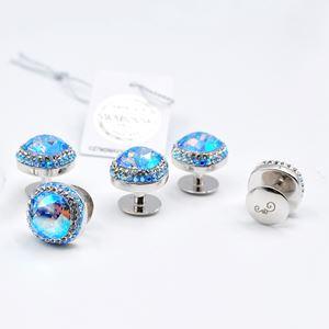 Butang Baju Melayu Aduka Light Sapphire Shimmer