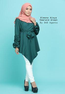 Kimono Wrap Aisya Emerald Green
