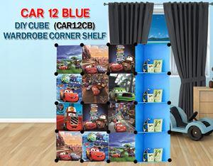 Cars BLUE 12C DIY Wardrobe with Corner Shelf (CAR12CB)