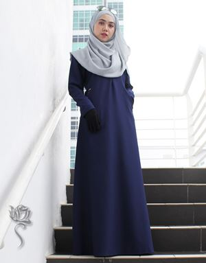 LE HAJA DRESS - DARK BLUE