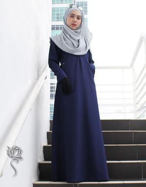 LE HAJA DRESS - DARK BLUE
