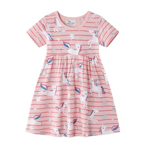 UNICORN STRIPE DRESS   ( SIZE 2Y-7Y )