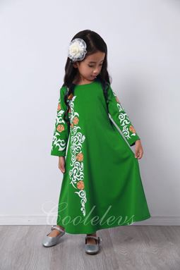 @  2017 COOL ELVES JUBAH RAYA SET E  ( GREEN )  SIZE 2-12