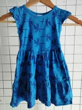 Princess Dress V2 : BLUE HAWAII , size 2-4