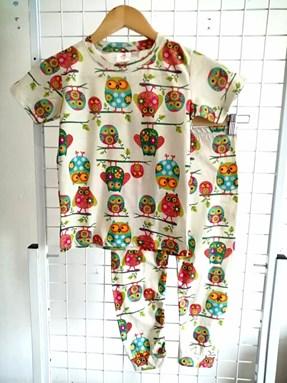 Pyjamas JR OWL BEIGE :  Big Kids 9/10