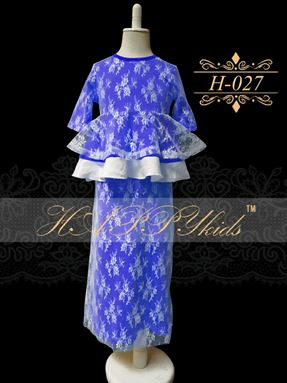 HAPPYkids Exclusive Lace Peplum H-027 ( BLUE )