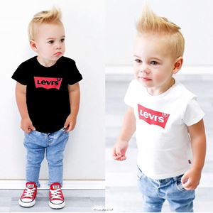 CHILDREN'S CLOTHING T-SHIRT JEANS SET - { LEVI'S }   BLACK / WHITE    ( SIZE 90 - 140 )