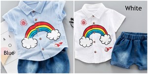 Rainbow Top + Short Pant