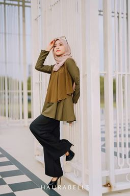 HANA BLOUSE-OLIVE GREEN