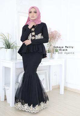Kebaya Melly Organza Black