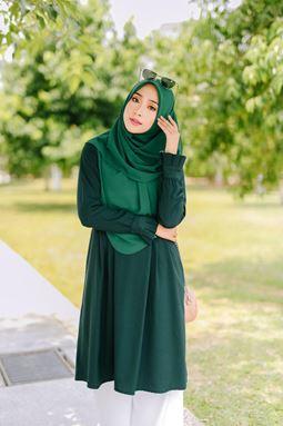 BLOUSE WAFIYYA - EMERALD GREEN