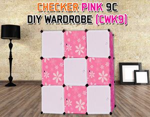 CHECKER PINK 9C DIY WARDROBE (CWK9)