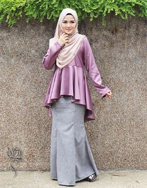 PEPLUM SOORAYA - DUSTY PURPLE