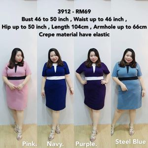 3912 Ready Stock *Bust 46 to 50 inch/ 116-127cm