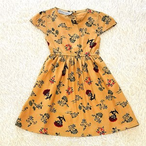 [SIZE 5Y] Baby and Kids Dress RED ROSE LIGHT BROWN Brand KF
