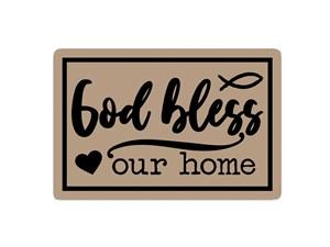Floor Mat - God bless our home