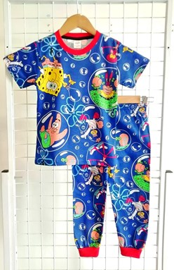 Pyjamas SPONGEBOB BUBBLE BLUE :  BIG Size 12 (MF)