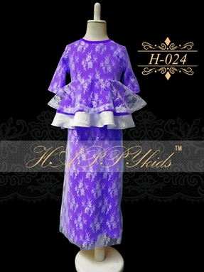 HAPPYkids Exclusive Lace Peplum H-024 ( PURPLE )