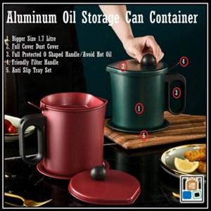 Stainless Steel Oil Filter Pot 1.7L