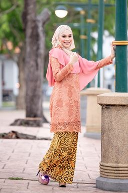 BAJU KURUNG SWEET YANA ORANGE