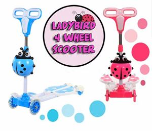 Ladybird 4 wheel scooter