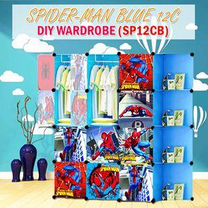 Spider-Man Blue 12C Diy Wardrobe w Corner Rack (SP12CB)