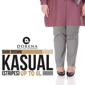CASUAL PANTS BROWN STRIPES