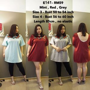 E141*Ready Stock *Very Big Size !!! Bust 50 to 60 inch/ 127 to 152cm
