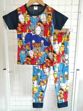 SIZE 2/3 KIDS  Pyjamas KAWS SESAME STREET Blue Black (Brand HRZ)
