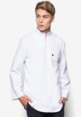 WOOW Shirt - White Pleated Pocket