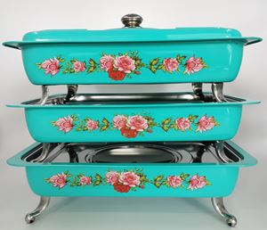 BUFFET VINTAGE TRAY 3pcs/set - TURQUOISE ( 8L )
