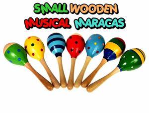 SMALL WOODEN MUSICAL MARACAS
