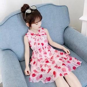 PINK GIRL DRESS  ( SIZE  110 - 160 )