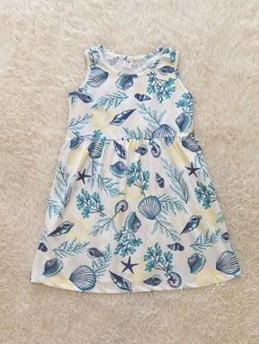 [SIZE 1Y , 4Y - 6Y]  Kids Dress CORAL WHITE TW