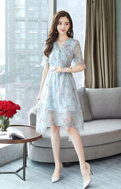 Shallow Fairy Chiffon Dress
