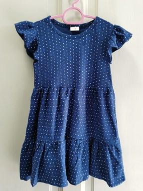 Princess Dress : Design Blue Polka, size 2-4