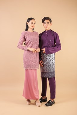 Maylea Modern Kurung (Light Pink)