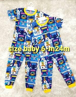 Pyjamas LILO AND STITCH BLUE : BABY size 6M - 24M