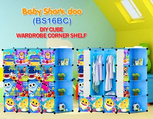 Baby Shark Doo BLUE 16C DIY WARDROBE w CORNER RACK (BS16BC)