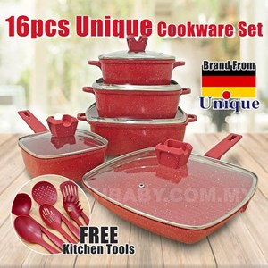 16pcs Unique Cookware Set (PRE ORDER) ETA 19 JULY 20