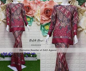 Kurung Batik Dewi Maroon